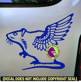 Rat with Wings Pet Vinyl Decal Sticker