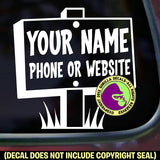 REAL ESTATE AGENT BROKER - Add your phone number - Vinyl Decal Sticker