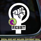 RESIST Fist Feminism Symbol Vinyl Decal Sticker Vinyl Decal Sticker