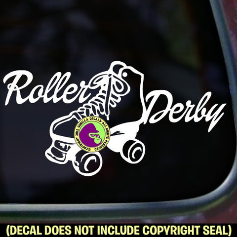 ROLLER DERBY Skating Vinyl Decal Sticker