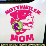 Rottweiler - MOM - Dog Breed Love Vinyl Decal Sticker