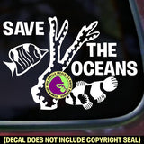 SAVE THE OCEANS Reef Fish Vinyl Decal Sticker