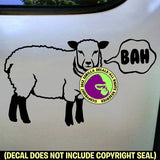 SHEEP BAH Funny Vinyl Decal Sticker