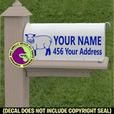 SHEEP Custom Mailbox Set Vinyl Decal Sticker