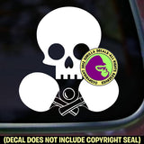SKULL Table Tennis Paddles Game Vinyl Decal Sticker