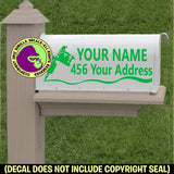 TATTOO ARTIST SHOP MAILBOX Set - ADD YOUR NAME & ADDRESS Vinyl Decal Sticker
