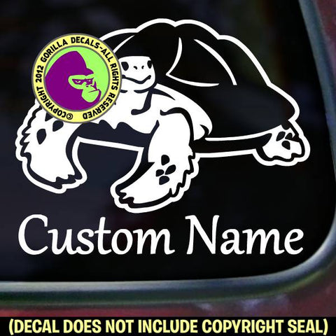 TORTOISE - ADD YOUR CUSTOM WORDS - Vinyl Decal Sticker