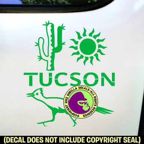 Arizona state tucson vinyl decal sticker