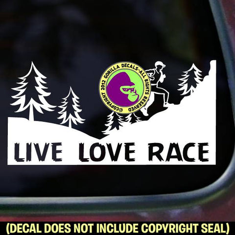 LIVE LOVE RACE - Ultra Marathon Trail Running Ultra Vinyl Decal Sticker