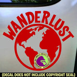 WANDERLUST World Traveler Decal Sticker