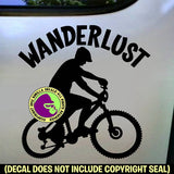 WANDERLUST Mountain Bike Biking Vinyl Decal Sticker
