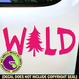 WILD Hiking Camping Hiker Outdoors Vinyl Decal Sticker