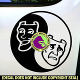 DRAMA MASKS - Yin Yang - Vinyl Decal Sticker