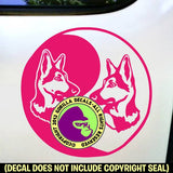 GERMAN SHEPHERD - Yin Yang - Dog Vinyl Decal Sticker