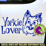 YORKIE Yorkshire Terrier - Lover - Dog Vinyl Decal Sticker