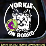 YORKIE Yorkshire Terrier - On Board - Dog Vinyl Decal Sticker