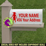 Zombie MAILBOX Set - ADD YOUR NAME & ADDRESS Vinyl Decal Sticker
