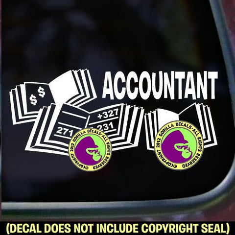 ACCOUNTANT Vinyl Decal Sticker
