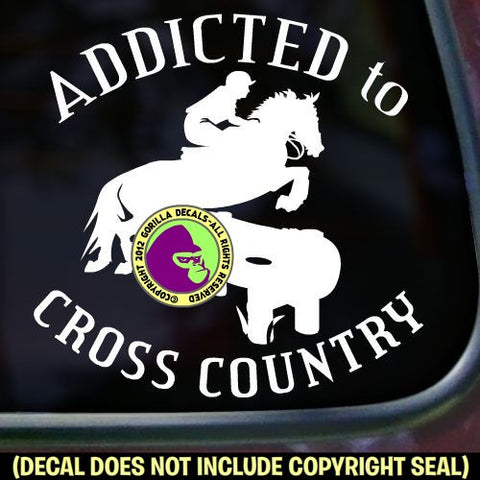ADDICTED TO CROSS COUNTRY Vinyl Decal Sticker