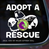 ADOPT A RESCUE PARROT  Vinyl Decal Sticker