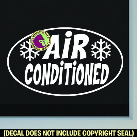 AIR CONDITIONED Vinyl Decal Sticker
