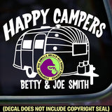 Airstream Happy Campers ADD CUSTOM WORDS Vinyl Decal Sticker