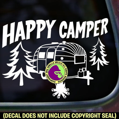 HAPPY CAMPER Airstream Vinyl Decal Sticker