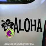 Welcome ALOHA Hibiscus Vinyl Decal Sticker