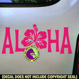 "Welcome - ALOHA ""O"" Hibiscus Vinyl Decal Sticker"