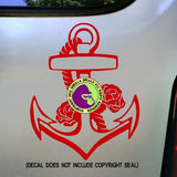 ANCHOR Roses Vinyl Decal Sticker