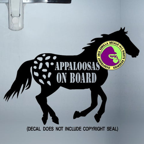APPALOOSA HORSES - APPALOOSAS ON BOARD Body Trailer Vinyl Decal Sticker