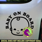 Baby on Board Sign Vinyl Decal Sticker