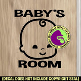 BABY'S ROOM Vinyl Decal Sticker