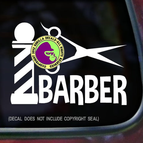 BARBER POLE Vinyl Decal Sticker