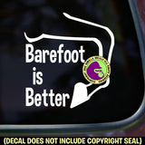 BAREFOOT IS BETTER Horse Hoof Vinyl Decal Sticker