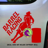 BARREL RACING Vinyl Decal Sticker
