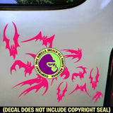 BATS FLYING Swarm Vinyl Decal Sticker