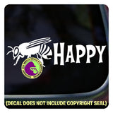 BEE HAPPY Beekeeper Vinyl Decal Sticker