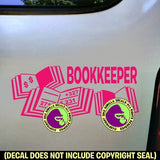 BOOKKEEPER Vinyl Decal Sticker