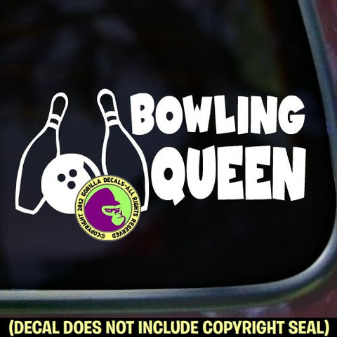 Bowling - BOWLING QUEEN Vinyl Decal Sticker