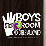 BOYS ROOM NO GIRLS ALLOWED Vinyl Decal Sticker