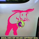 BUNNY Rabbit Show Jumping Vinyl Decal Sticker
