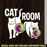 CAT ROOM Vinyl Decal Sticker