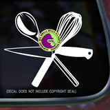 KNIFE SPOON WHISK Tools Vinyl Decal Sticker