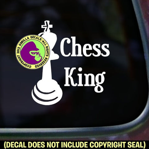 CHESS KING Game Vinyl Decal Sticker