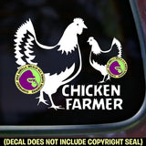 CHICKEN FARMER Vinyl Decal Sticker