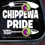 Tribe - CHIPPAWA PRIDE Native American Vinyl Decal Sticker