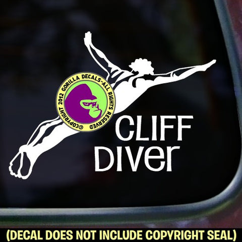 CLIFF DIVER Vinyl Decal Sticker