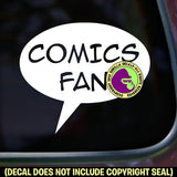 COMICS FAN Vinyl Decal Sticker