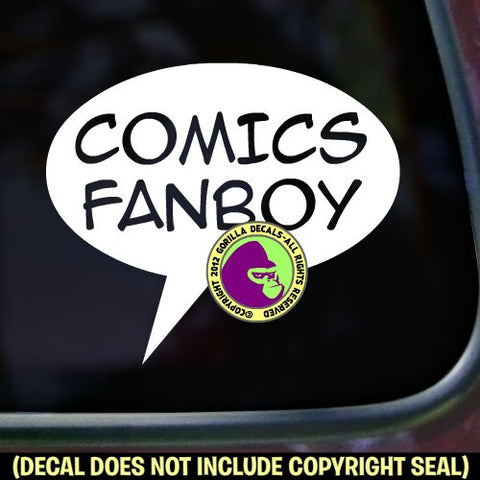 COMICS FANBOY Vinyl Decal Sticker